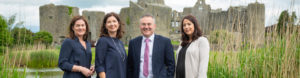 Mahon Sweeney Solicitors in front of Roscommon castle